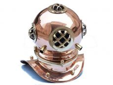 Copper Decorative Divers Helmet 9\