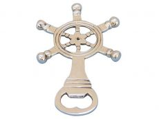 Solid Brass Ship Wheel Bottle Opener 5\