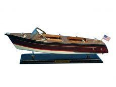 Wooden Chris Craft Runabout Model Speedboat 20