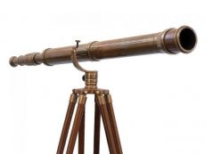 Floor Standing Antique Brass Galileo Telescope 65