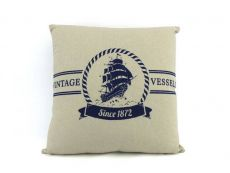 Vintage Vessels 1872 Decorative Nautical Throw Pillow 16\