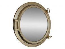 Gold Finish Porthole Mirror 24