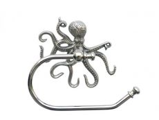 Chrome Octopus Hand Towel Holder 10