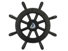 Pirate Decorative Ship Wheel With Sailboat 12