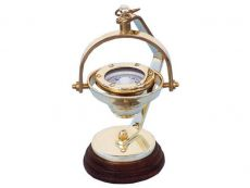 Solid Brass Hanging Compass 8