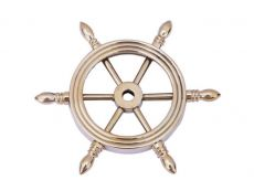 Solid Brass Decorative Ship Wheel Paperweight 4