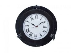 Oil Rubbed Bronze Deluxe Class Porthole Clock 17