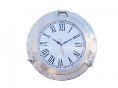 Brushed Nickel Deluxe Class Porthole Clock 20
