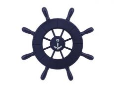 Dark Blue Decorative Ship Wheel With Anchor 9