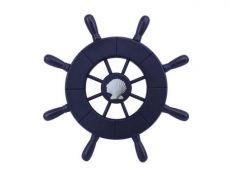 Dark Blue Decorative Ship Wheel With Seashell 9