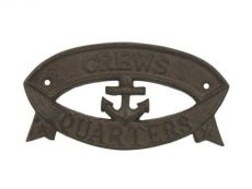 Cast Iron Crews Quarters Sign 8