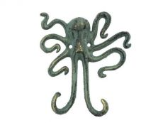 Antique Bronze Cast Iron Decorative Wall Mounted Octopus Hooks 6