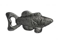 Rustic Silver Cast Iron Fish Bottle Opener 5