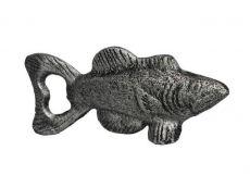 Rustic Silver Cast Iron Fish Bottle Opener 5