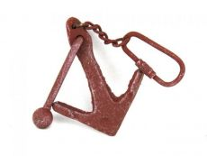 Red Whitewashed Cast Iron Anchor Key Chain 5
