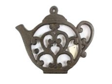 Cast Iron Round Teapot Trivet 8