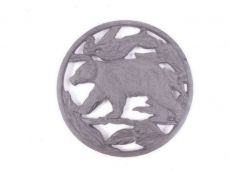 Cast Iron Black Bear in the Forest Kitchen Trivet 7.5