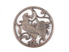 Rustic Copper Cast Iron Rooster Trivet 8