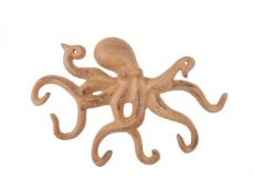 Rustic Orange Cast Iron Octopus Hook 11