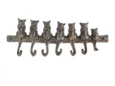 Cast Iron Cat Wall Hooks 13