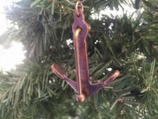 Antique Copper Admiralty Anchor Christmas Ornament 6