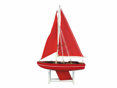 Wooden Decorative Sailboat Model Ruby Compass 12