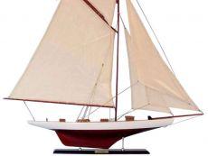 Wooden Columbia Model Sailboat Decoration 45