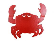 Rustic Red Cast Iron Crab Trivet 11
