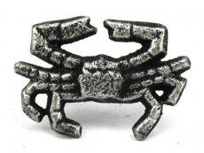Antique Silver Cast Iron Crab Napkin Ring 2.5 - set of 2