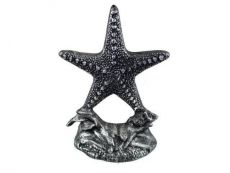 Antique Silver Cast Iron Starfish Door Stopper 11
