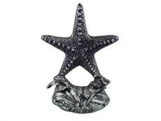 Antique Silver Cast Iron Starfish Door Stopper 11