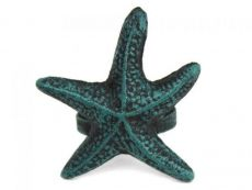 Seaworn Blue Cast Iron Starfish Napkin Ring 3 - set of 2