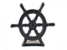 Cast Iron Ship Wheel Door Stopper 9\