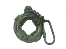 Antique Bronze Cast Iron Lifering Key Chain 5