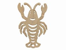 Aged White Cast Iron Lobster Trivet 11