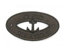 Cast Iron Crews Quarters with Anchor Sign 8