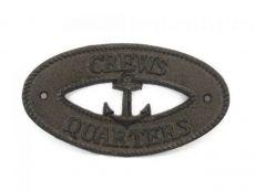 Cast Iron Crews Quarters with Anchor Sign 8