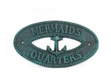 Seaworn Blue Cast Iron Mermaids Quarters with Anchor Sign 8