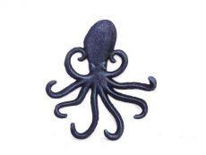 Rustic Dark Blue Cast Iron Wall Mounted Decorative Octopus Hooks 7