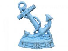 Rustic Light Blue Cast Iron Anchor Door Stopper 8