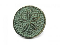 Antique Bronze Cast Iron Sand Dollar Napkin Ring 2 - set of 2