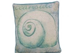 Blue and White Nautilus Decorative Throw Pillow 10