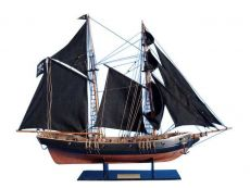 Wooden Ben Franklin\'s Black Prince Limited Model Ship 24\
