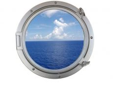 Silver Decorative Ship Porthole Window 24