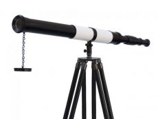 Admirals Floor Standing Oil Rubbed Bronze-White Leather with Black Stand Telescope 60