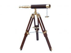 Floor Standing Brass-Leather Harbor Master Telescope 30 - Leather