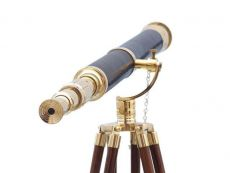 Floor Standing Brass-Leather Galileo Telescope 65