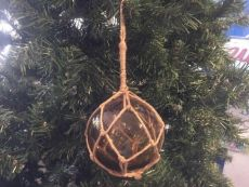 Amber Japanese Glass Ball Fishing Float Decoration Christmas Ornament 4