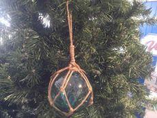 Light Blue Japanese Glass Ball Fishing Float Decoration Christmas Ornament 4