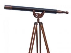 Floor Standing Antique Copper With Leather Anchormaster Telescope 65